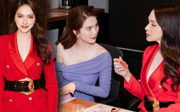 """Netizen gào thét vì Hương Giang mặc vest giấu quần táo bạo, biến Ngọc Trinh thành """"nữ phụ"""" trong một khung hình"""