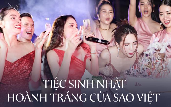 Sao Việt mở tiệc sinh nhật xa hoa nhất Vbiz: Hà Hồ - Lý Nhã Kỳ như tổ chức lễ trao giải, Ngọc Trinh khiến dân tình
