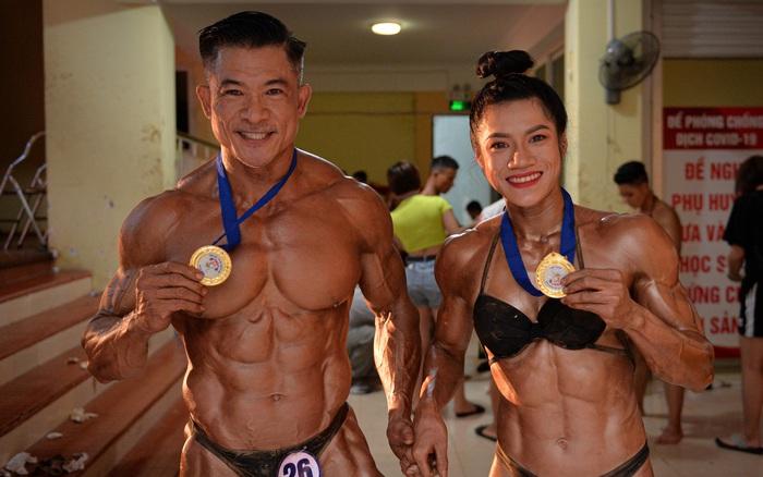 """""""Búp bê cơ bắp"""" Trần Ny Ny thắng tuyệt đối ở hạng 55 cân nữ giải thể hình các CLB toàn quốc"""