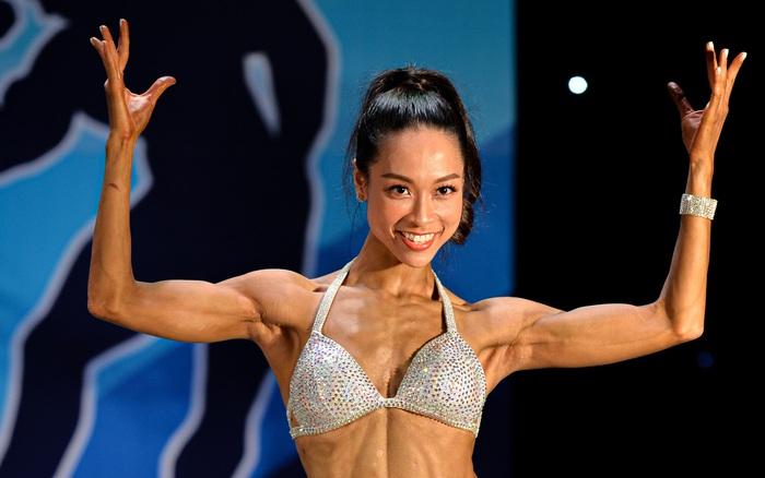 Nữ chính Lưu Phương Linh (Người ấy là ai) bất ngờ xuất hiện và thi đấu ấn tượng trên sàn thể hình Quốc gia - người ấy là ai