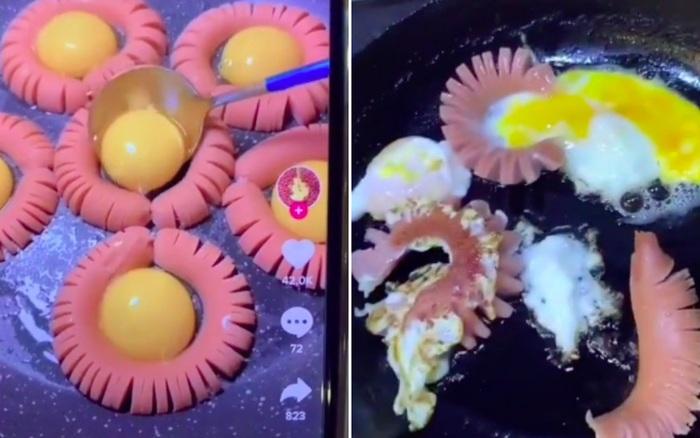 """Học theo clip dạy nấu ăn trên mạng, chàng trai tạo ra """"thảm hoạ ẩm thực"""" khiến ai nhìn vào cũng lắc đầu: Làm sai ngay từ đầu rồi bạn ơi!"""