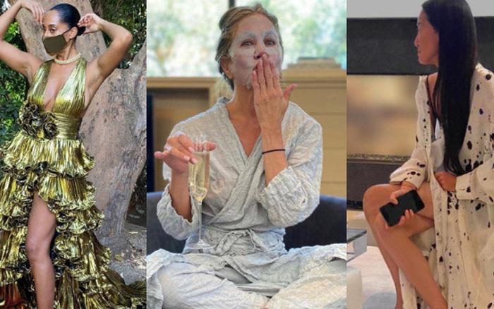 Thảm đỏ đặc biệt nhất lịch sử Emmy Awards: Jennifer Aniston đắp mặt nạ mặc pijama, NTK Vera Wang khoe chân nuột nà tại nhà
