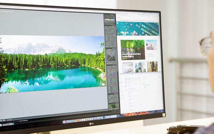 Trải nghiệm nhanh màn hình LG UltraFine Display 4K dành cho dân đồ hoạ: thiết kế tinh tế, hiển thị ấn tượng