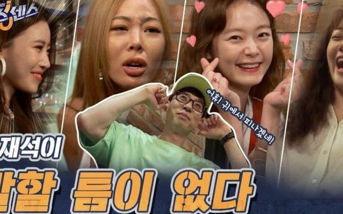 Yoo Jae Suk phải bịt tai hét lớn khi nghe Jessi & Jeon So Min bàn về kích cỡ... vòng 1