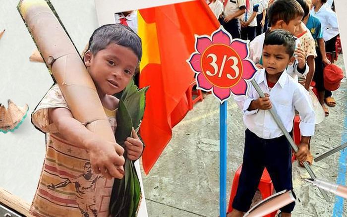 Buổi lễ khai giảng của cậu bé từng chân trần đi bộ đường núi, vác cây măng trên vai gửi tặng người dân ở tâm dịch Đà Nẵng
