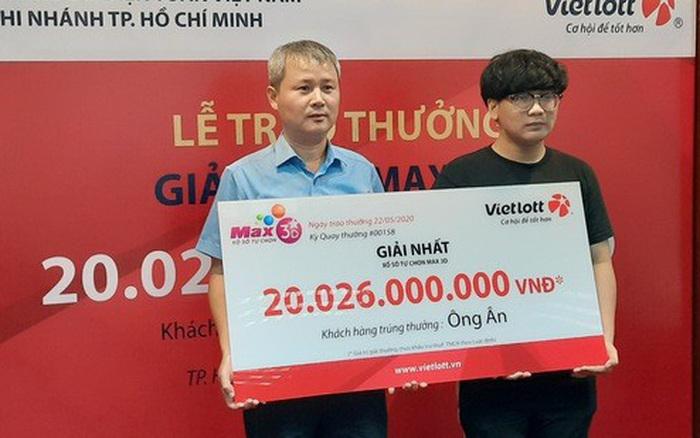 Nam sinh viên không đeo mặt nạ nhận độc đắc hơn 20 tỷ đồng tại Sài Gòn