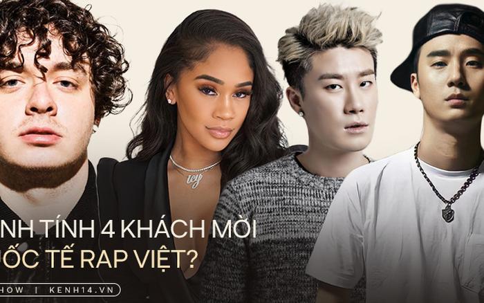 Lộ danh tính khớp đến 99% của 4 khách mời quốc tế đêm Chung kết Rap Việt?