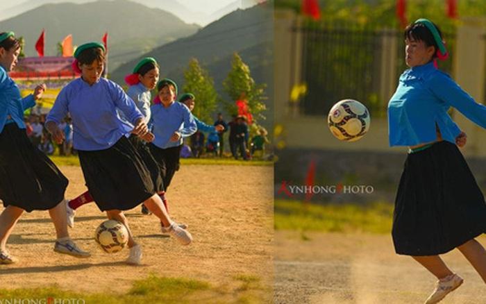 Bộ ảnh thú vị về trận bóng không có thẻ vàng, thẻ đỏ của những phụ nữ dân tộc Sán Chỉ