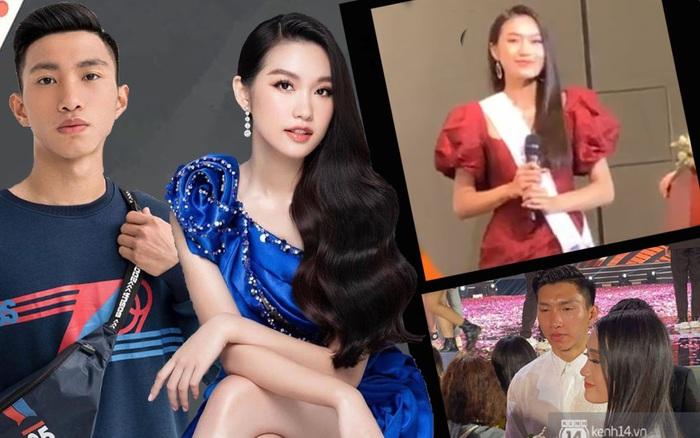 Phản ứng của Doãn Hải My khi được hỏi về tin đồn hẹn hò Đoàn Văn Hậu ở họp báo Hoa hậu Việt Nam 2020