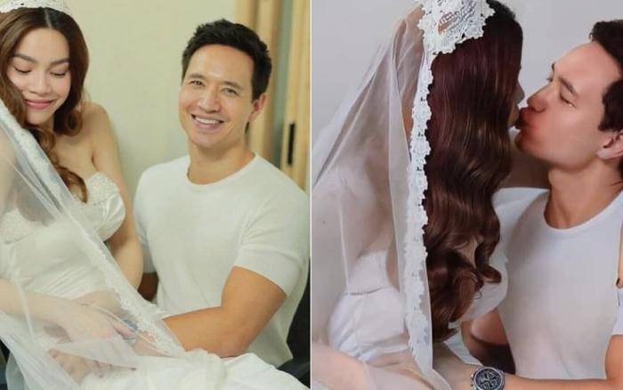 Lộ hậu trường ảnh cưới của Hà Hồ - Kim Lý: Cô dâu trao cho chồng nụ hôn nồng thắm, nhìn đã thấy hạnh phúc lây!