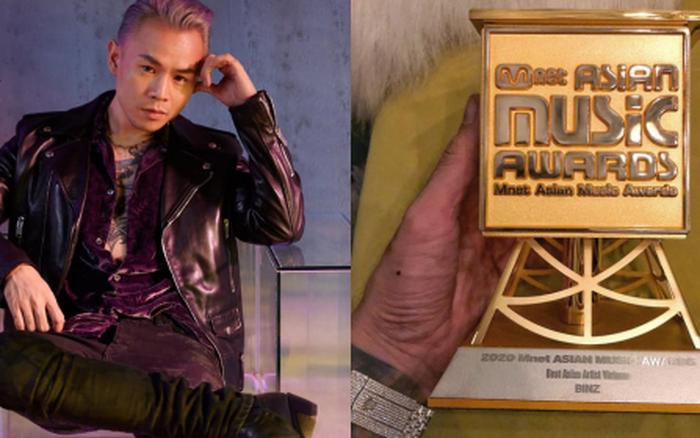 Binz bất ngờ khoe cúp đạt giải Best Asian Artist Vietnam tại MAMA 2020 nhưng lập tức phải xoá vội vì ăn mừng hơi sớm?