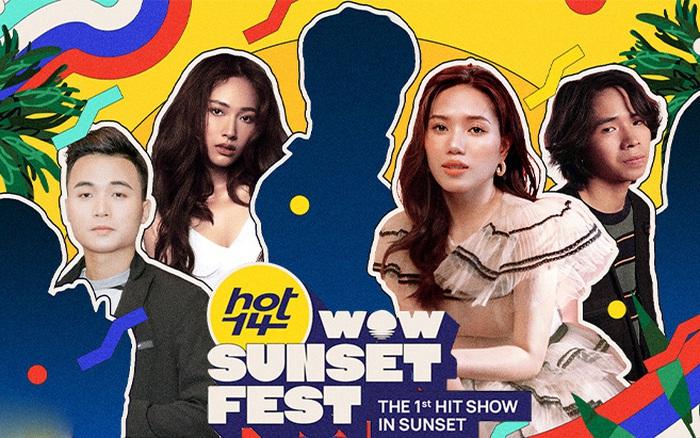"""Thuỳ Chi, Cara, Thịnh Suy và HuyR xác nhận trình diễn tại HOT14 WOW Sunset Fest, tuy nhiên """"trùm cuối"""" vẫn chưa xuất hiện!"""