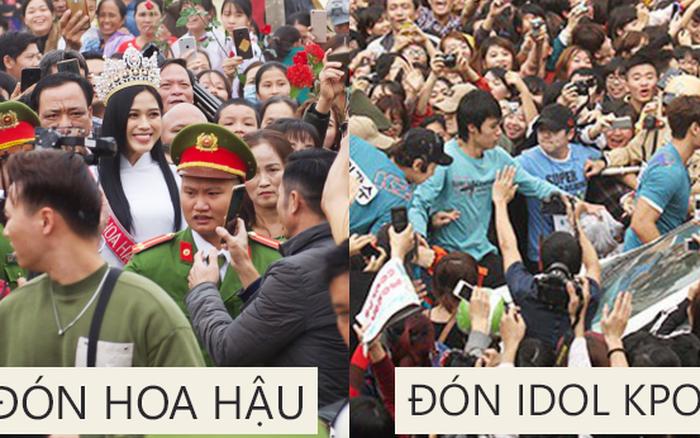 Nhìn Hoa hậu Đỗ Thị Hà về làng mà tưởng biển fan đón idol Kpop: Bà con vây kín cả khu vực, các bác gái
