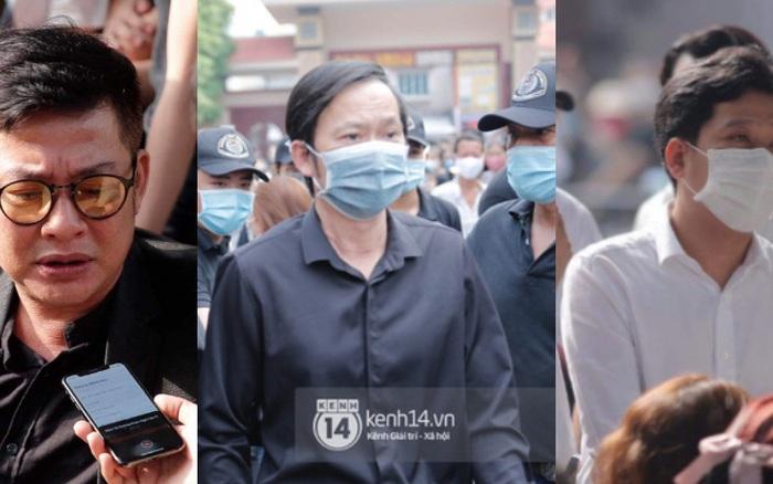 Dàn sao Việt đến tang lễ đưa tiễn NS Chí Tài: NS Hoài Linh - Tấn Beo suy sụp sau 3 ngày, vợ chồng Trường Giang lặng lẽ một góc