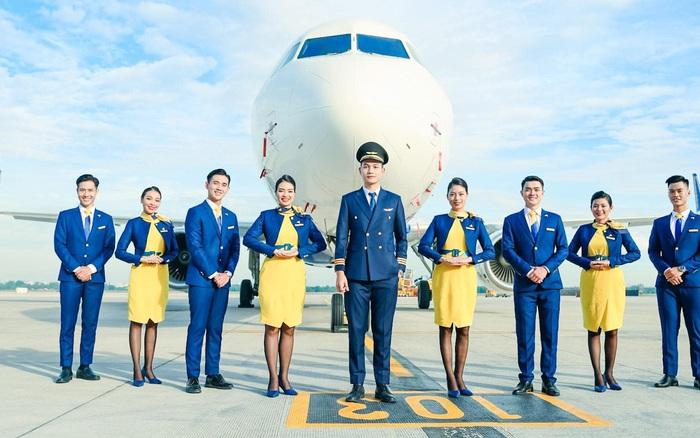 Vietravel Airlines chính thức công bố đồng phục của đội ngũ tiếp viên: Tông màu chủ đạo là vàng và xanh dương - giáeurohômnay