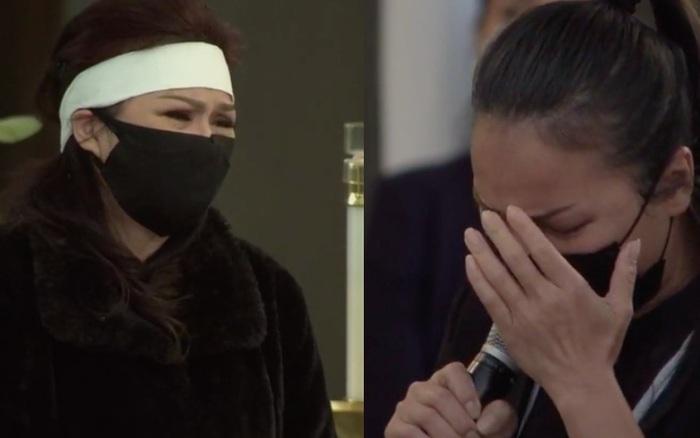 Ca sĩ Hồng Ngọc khóc nấc khi hát Cát Bụi tiễn biệt người anh thân thiết, bà xã NS Chí Tài không giấu được giọt nước mắt đau thương