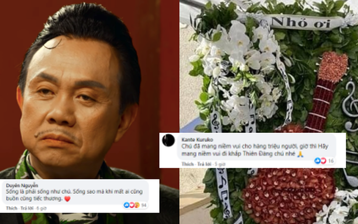 Dân mạng xúc động trước vòng hoa Nhỏ Ơi tại tang lễ cố nghệ sĩ Chí Tài: