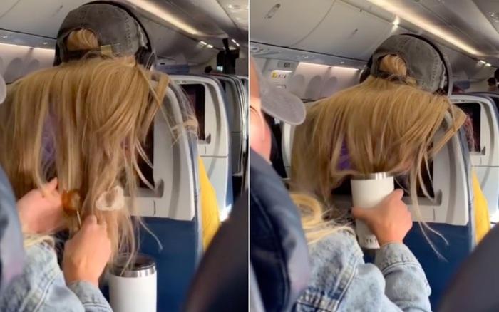 Chướng mắt vì cảnh khách ngồi ghế trước xoã tóc che hết màn hình, cô gái có hành động đáp trả cực gắt rồi quay clip đăng lên TikTok