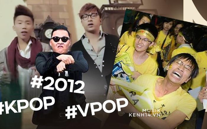 Năm 2012: Vpop xuất hiện 2 bản hit xứng tầm quốc dân, Gangnam Style và Music Bank đánh dấu sự bùng nổ của làn sóng Hallyu tại Việt Nam
