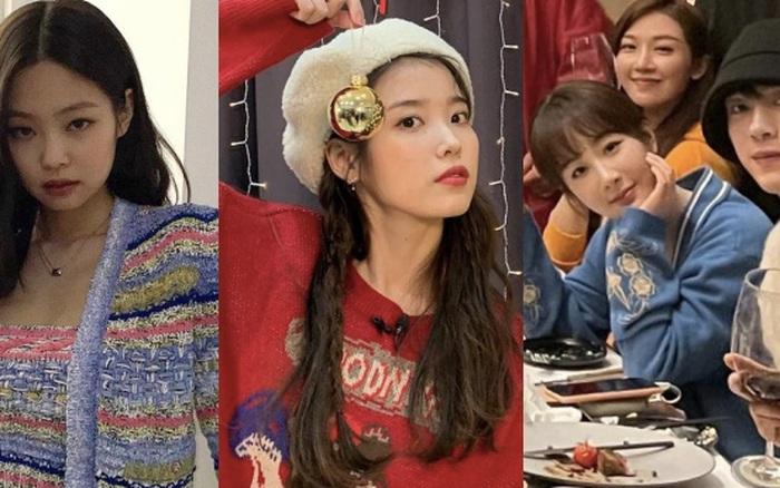 Dàn sao Hoa - Hàn tưng bừng Giáng sinh: BLACKPINK khoe quà xa xỉ, BTS - IU lên đồ, Dương Tử e thẹn bên trai đẹp