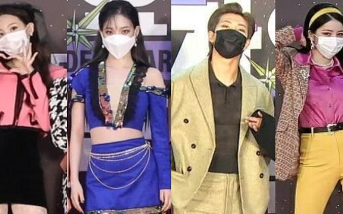 Thảm đỏ SBS Gayo Daejun 2020: aespa tiếp tục là thảm họa thời trang, RM (BTS) diện đồ thùng thình như... mượn của bố