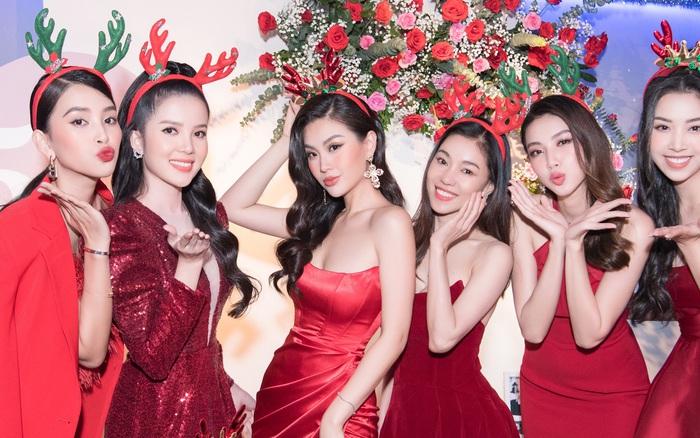 """Tiệc kỷ niệm 5 năm cưới đỏ rực của Á hậu Diễm Trang và chồng đại gia: Cả dàn hậu đình đám góp mặt, chủ tiệc khoe body """"căng đét"""""""