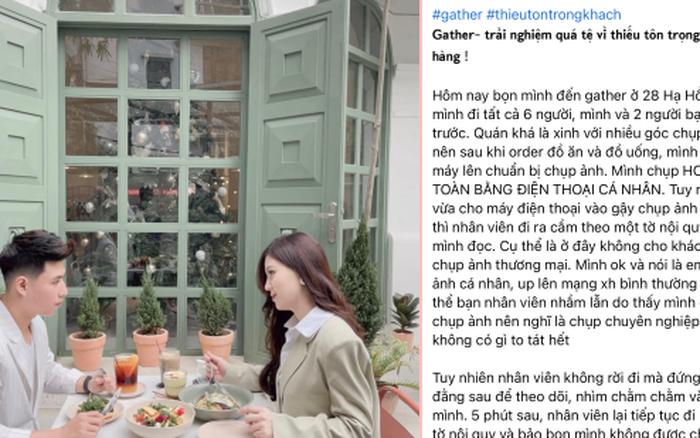 Khách đến Gather của Đào Chi Anh chụp ảnh sống ảo bị nhân viên