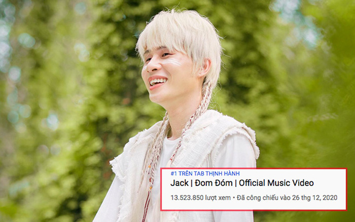 Jack chính thức đạt #1 trending YouTube sau 2 ngày,