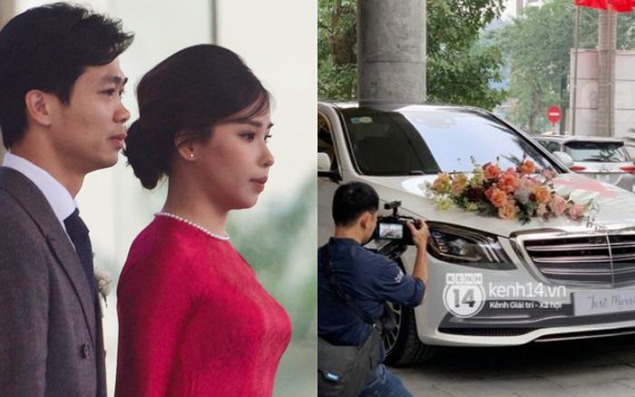 """Trực tiếp đám cưới Công Phượng tại Nghệ An: Chú rể đã đến rước cô dâu, cặp đôi đan tay tình tứ lên xe """"Mẹc"""" 7 tỷ chuẩn bị đến địa điểm hôn lễ"""