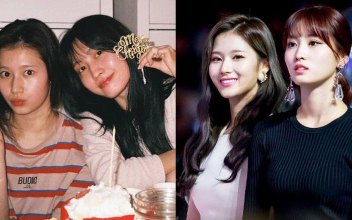 """""""Hết hồn"""" mặt mộc của nữ thần Sana (TWICE) và bạn gái Heechul: 1 """"bộ phận"""" mất dạng, làm giảm đi 70% độ xinh"""