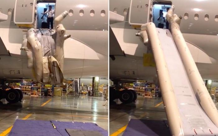 Cận cảnh chiếc máng trượt thoát hiểm trên máy bay khi xảy ra tình huống khẩn cấp: Nhìn thì vui mắt nhưng hoá ra lại cực khó sử dụng