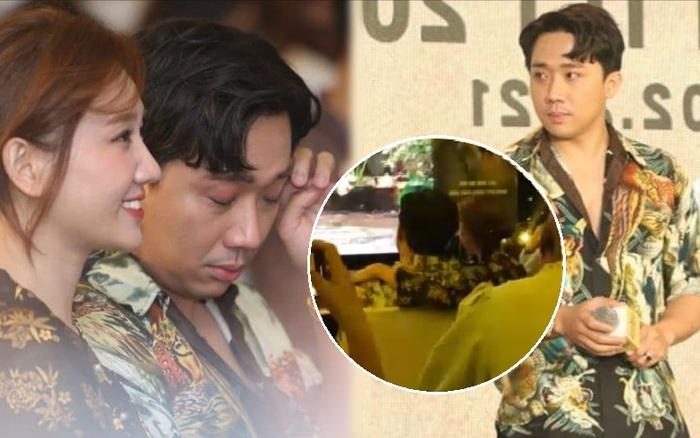 Trấn Thành rơi lệ ở họp báo Bố Già nhưng lần này có hẳn Hari Won dỗ dành rồi nha!