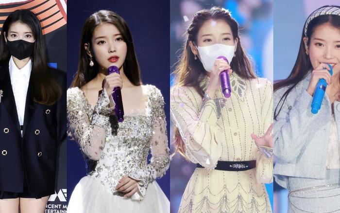"""Nữ thần Grammy Hàn 2021 gọi tên IU: Đổi 4 bộ đồ từ công chúa đến cá tính, hậu trường """"bùng nổ"""" visual triệu người mê"""