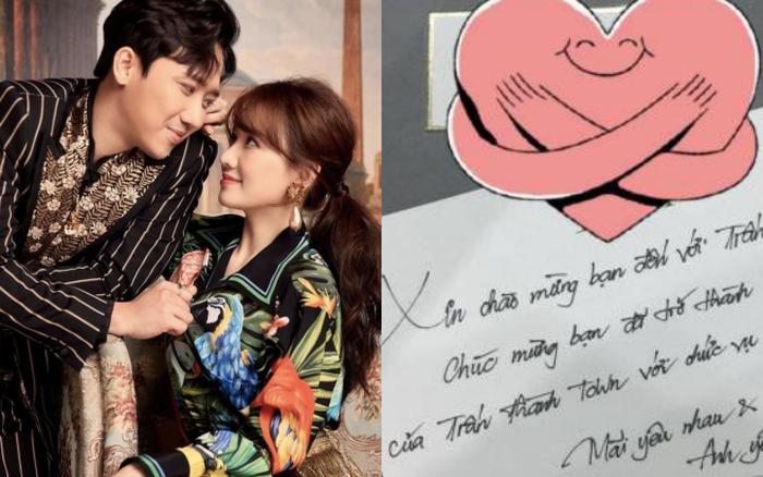 Hari Won hé lộ thư tay