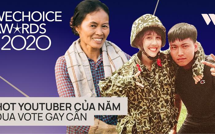 WeChoice Awards 2020: Đua vote quyết liệt ở hạng mục Hot YouTuber của năm, Hậu Hoàng tạm dẫn đầu nhờ lời kêu gọi của Mũi trưởng!