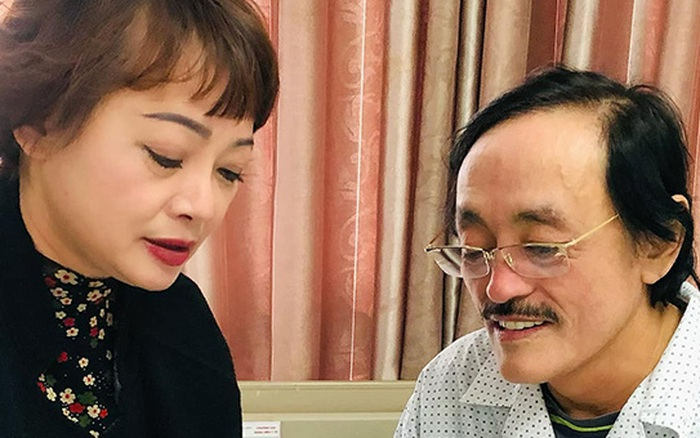 Nghệ sĩ Giang Còi nhập viện khẩn vì phát hiện khối u ở họng, NS Chiều Xuân và Trà My đồng loạt đến thăm hỏi