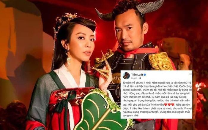 Tiến Luật viết thư kỷ niệm 10 năm ngày cưới cho bà xã Thu Trang, câu chốt hạ khiến netizen ngã ngửa
