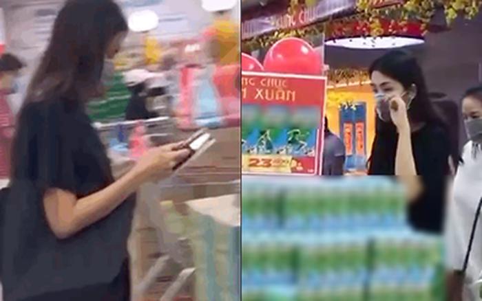 """Team qua đường bắt gặp khoảnh khắc Hà Tăng đi siêu thị: Nhan sắc ngoài đời của """"ngọc nữ"""" có xuất thần như lời đồn?"""