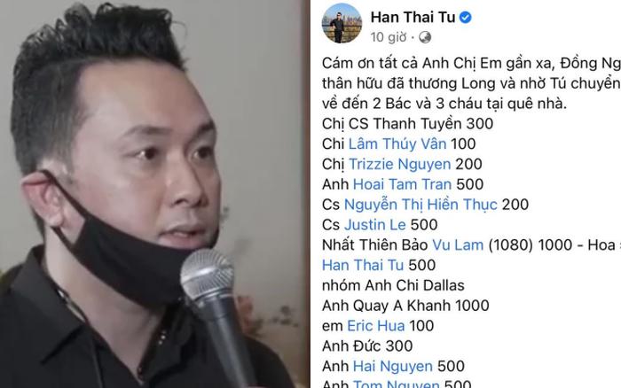 Hàn Thái Tú công khai chi tiết số tiền phúng điếu trong tang lễ ca sĩ Vân Quang Long tại Mỹ