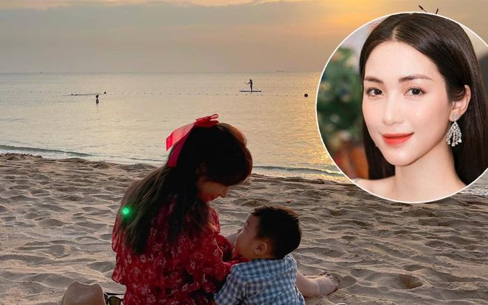 HOT: Đúng Valentine, bạn trai Hoà Minzy lần đầu công khai hình ảnh con trai đầu lòng, khoảnh khắc 2 mẹ con gây bão
