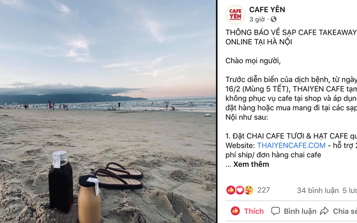 Sáng nay, hàng loạt quán cà phê ở Hà Nội đã chuyển sang bán online hoặc tạm đóng cửa để ngăn chặn dịch bệnh lây lan
