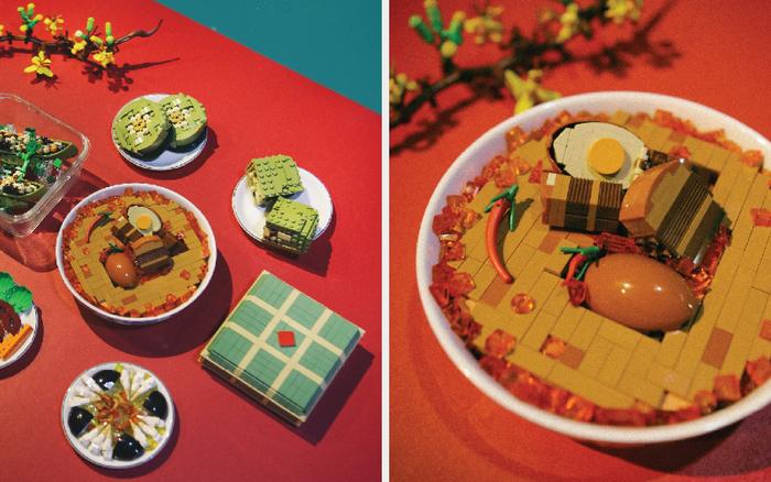Fanpage nước ngoài đình đám chia sẻ mâm cỗ Tết làm 100% từ mô hình Lego, dân mạng nhận xét: Tự hào quá Việt Nam ơi!