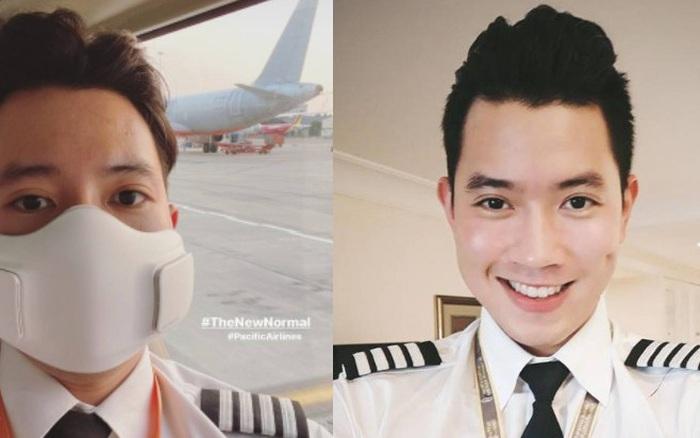 Cơ trưởng điển trai bậc nhất Việt Nam check-in ngày đầu năm, khoe luôn chiếc khẩu trang chống dịch có giá tới 3,5 triệu đồng