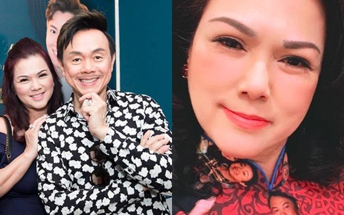 Ca sĩ Phương Loan vui vẻ diện áo in ảnh kỷ niệm với cố NS Chí Tài, cuối cùng đã lấy lại nụ cười sau tang lễ