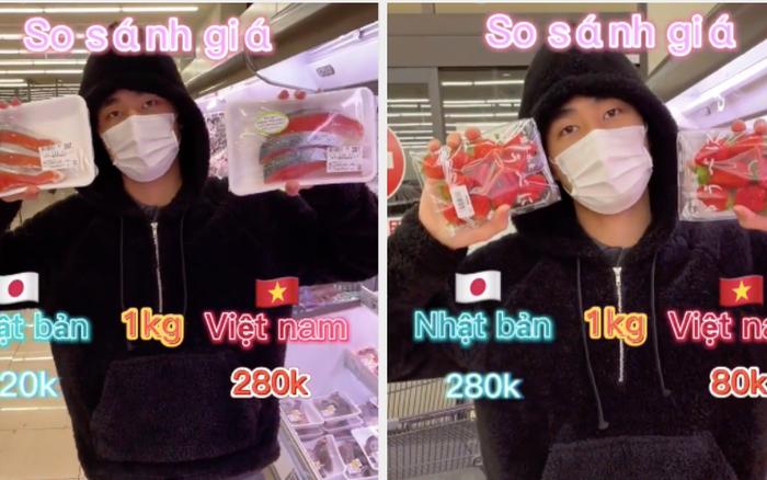 Chàng trai làm clip so sánh giá thực phẩm bán ở Nhật và Việt Nam, xem xong dân mạng liền nổ ra tranh cãi vì một lý do