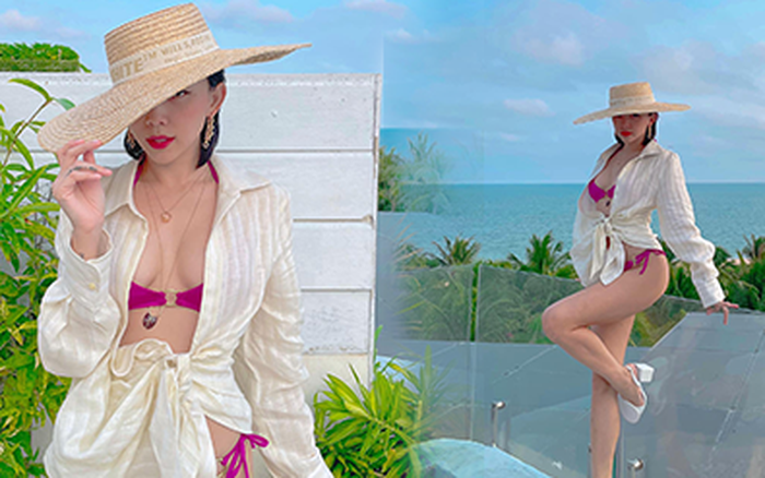 Đi nghỉ dưỡng bên Touliver, sáng sớm Tóc Tiên đã khoe ảnh bikini cắt xẻ hiểm hóc, lộ quá nửa vòng 1 phập phồng