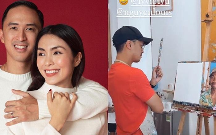 Hà Tăng đưa gia đình hào môn đi học vẽ, kéo đến thành phẩm của Louis Nguyễn mà