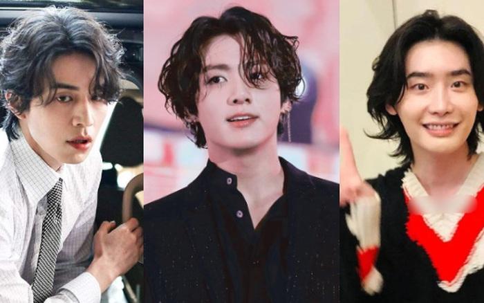 5 sao nam lột xác visual nhờ để... tóc dài: Jungkook - Lee Dong Wook đẹp như tiên tử, đến Lee Jong Suk lại muốn ngã ngửa