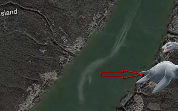 Những thuỷ quái khổng lồ vô tình được Google Earth ghi lại, nhìn rất khó tin!