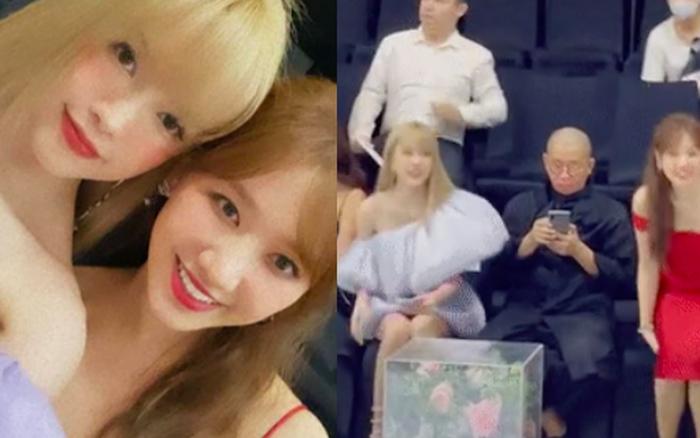 Bắt gặp Hari Won chờ Thiều Bảo Trâm chụp hình xong, thì thầm to nhỏ để đổi chỗ sang ngồi cạnh Tuấn Trần?
